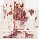 FLOATING, 2016-polyptyque-bic 4 couleurs sur papiers-400x 300cm